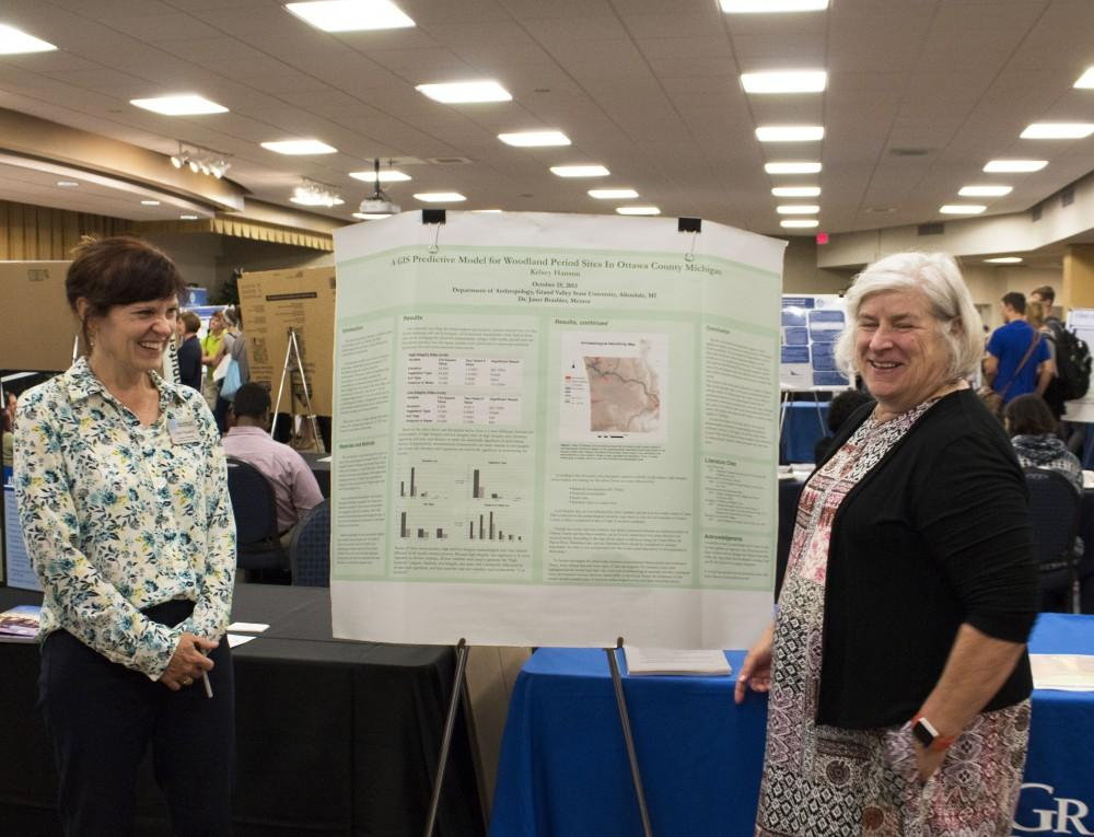 GVL / Hannah HillDr. Janet Brashler and Coeli Fitzpatrick were at the Undergraduate Research Fair on Tuesday, October3,  2017.