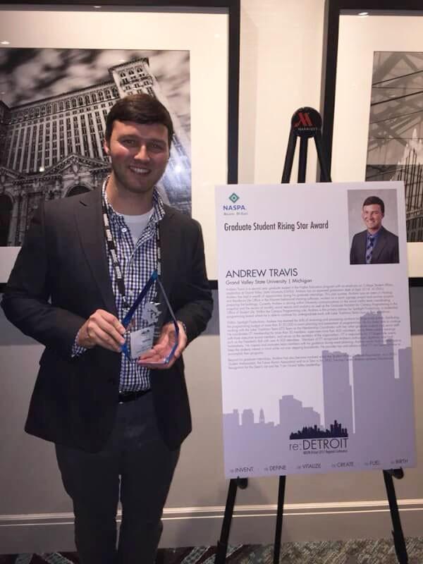 GVL / Courtesy - gvsu.eduAndrew Travis was recognized at conference in Detroit in November.