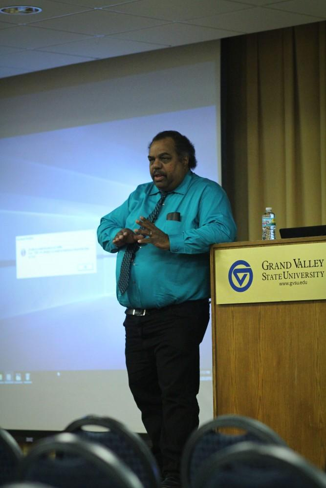 GVL / Sheila BabbittDaryl Davis speaks about respecting opionions that are different than your own at the Accidental Courtesy event on Tuesday February 20th, 2018.
