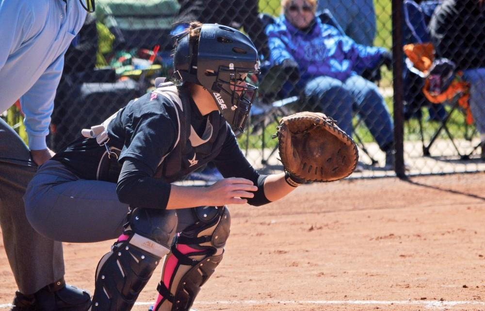 GVL/Hannah Zajac - Jessica Ramos prepares to receive a pitch during the game on Saturday, April 8, 2017.