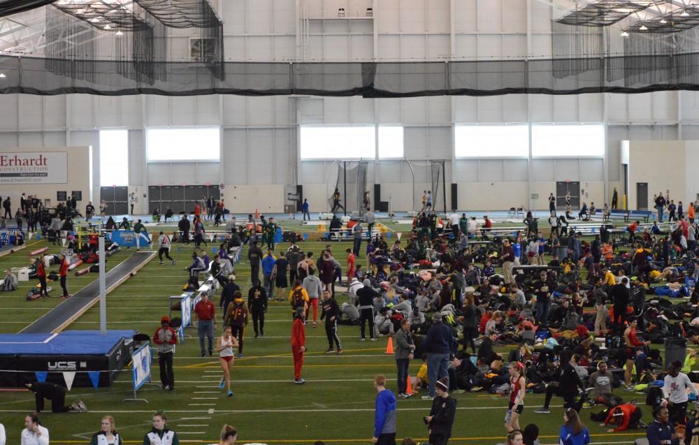 GVL/Hannah Zajac— GVSU Track Meeting on Saturday 10 Feb 2017.