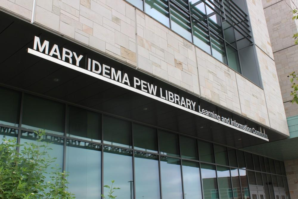 The Mary Idema Pew Library is one of GVSUs focal points on the Allendale campus. GVL/Amy McNeel