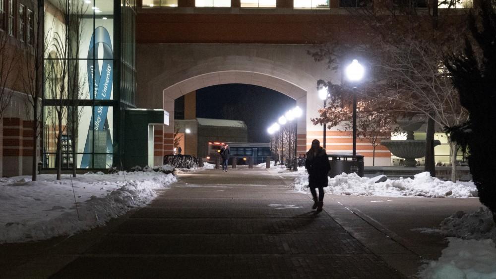Avoiding sexual assault. 12/1/18. GVSU Allendale Campus. GVL / Ben Hunt