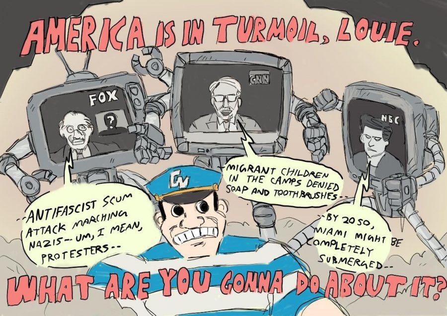 America is in Turmoil, Louie