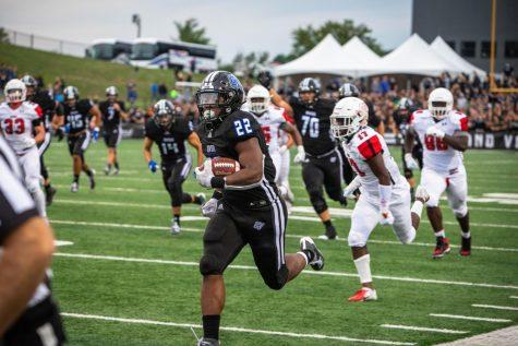 Senior linebacker Isaiah Nkansah leads GVSU's defense
