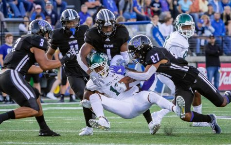 Senior linebacker Isaiah Nkansah leads GVSU's defense