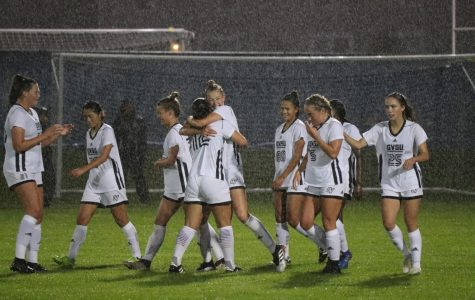 GVSU Soccer overpowers Wisconsin Parkside, wins 4-0 in muddy downpour