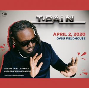T-Pain announced as 2020 Spring Concert performer
