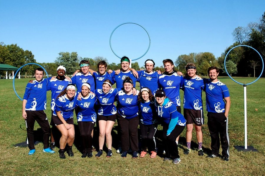 Grand Valley's Quidditch team takes to the field seven players at a time — no broomsticks necessary. (Courtesy/ Ryan Swanson)