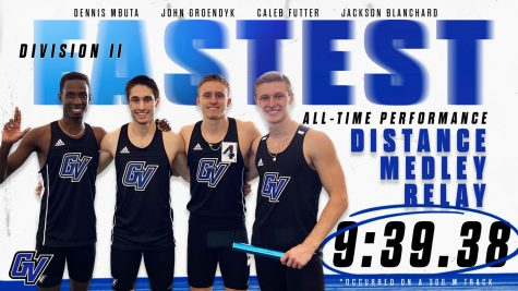 After breaking the Division II record, the GV Track and Field medley relay teams looks forward to upcoming tournaments