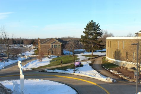 GVL / Annabelle Robinson. GVSU campus during February 2021