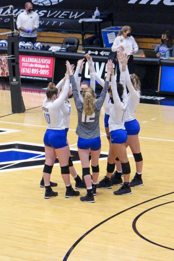 GVL / Annabelle Robinson. GVSU women's volleyball home game against Michigan Tech  on 3/26/21
