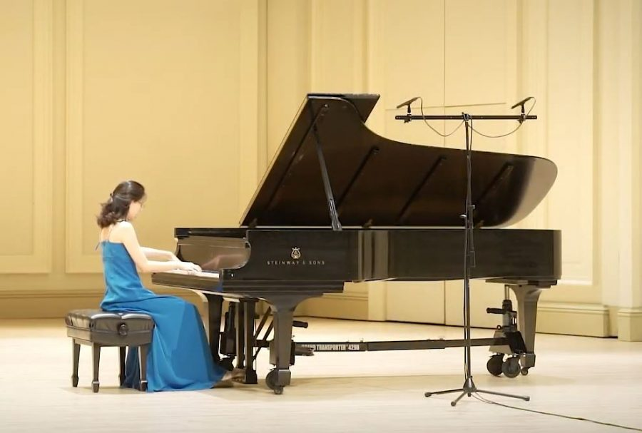 Sookkyung Cho plays Schubert's Sonata in A minor, D. 537, the first movement. (Courtesy Sookkyung Cho)