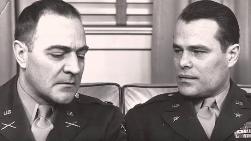 Dwight Eisenhower and Ralph Hauenstein both worked in Intelligence during WW2. (Courtesy Hauenstein Center for Presidential Studies)