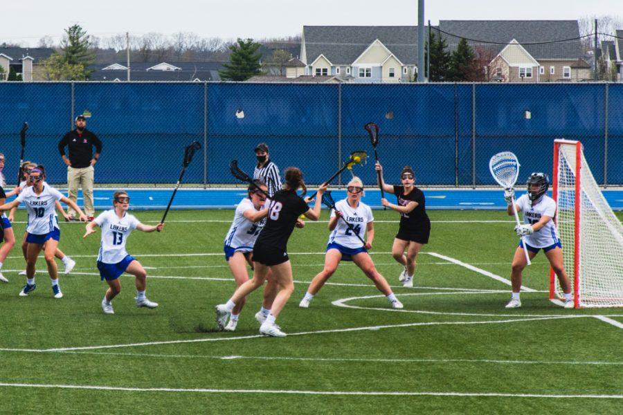 GVL / Sheila Babbit. GVSU Women's Lacrosse vs Davenport University, April 10, 2021