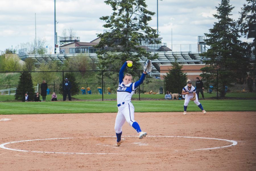 Hannah Beatus pitched a perfect second game for the Laker's win.
