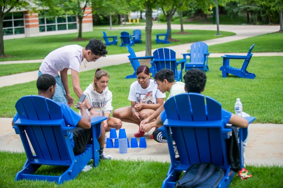 Every Tuesday and Thursday, OWS students do team-building activities on campus; every Saturday, they go to Grand Rapids for co-curricular workshops at Craig's Cruisers or Battle GR. (Photographer: Valerie Hendrickson)