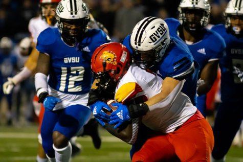 GV Football battles hard in the Anchor-Bone Classic, falling to rival Ferris